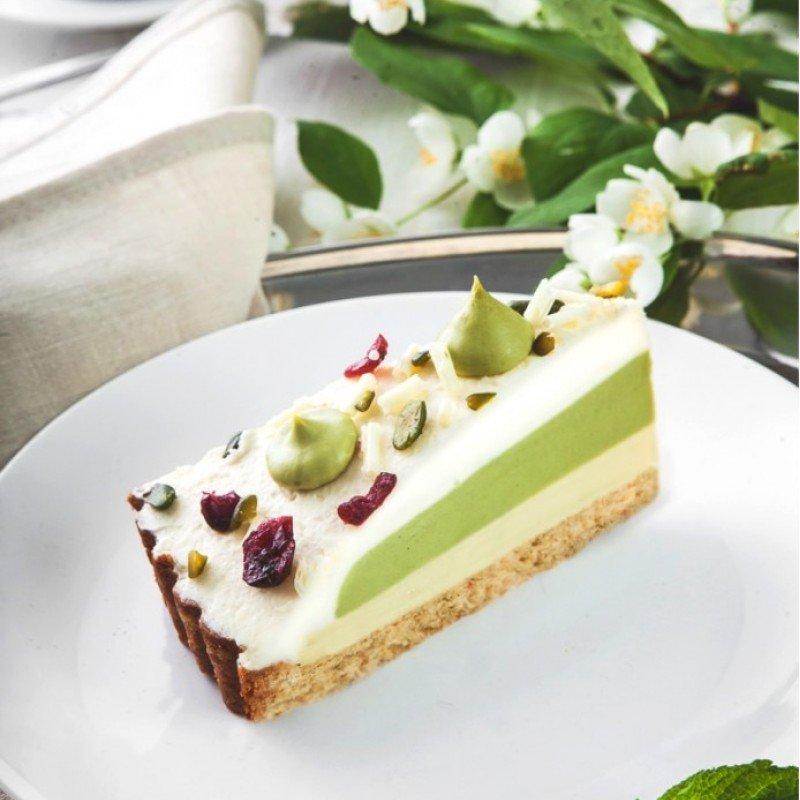 Торт «зелёный чай с белым шоколадом»