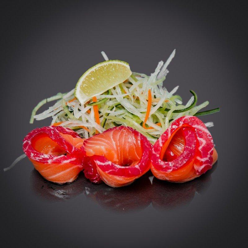 Сашими с лососем гравлакс